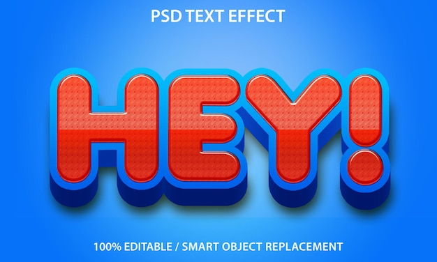 Effet de texte hey premium