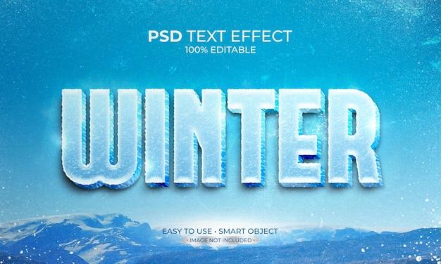 Effet de texte d'hiver