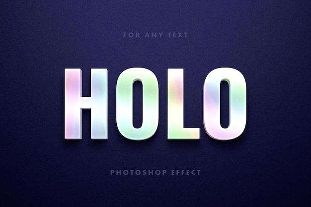 Effet de texte holographique brillant