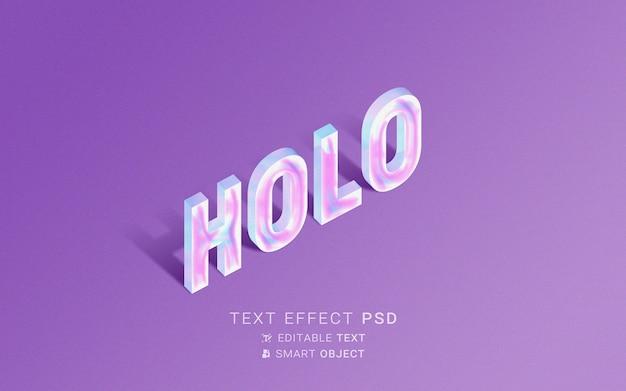 Effet de texte holographique créatif