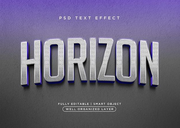 Effet de texte horizon de style 3d