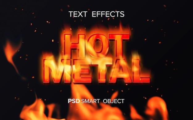 Effet de texte inspiré du feu