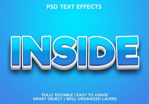 Effet de texte intérieur
