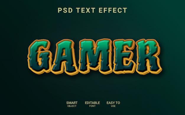 Effet de texte de joueur