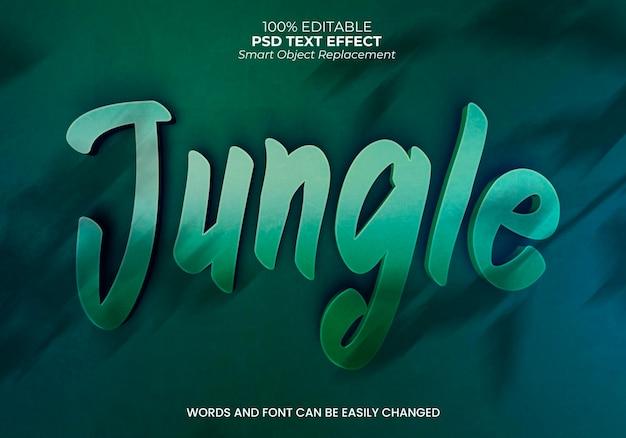 Effet de texte de la jungle