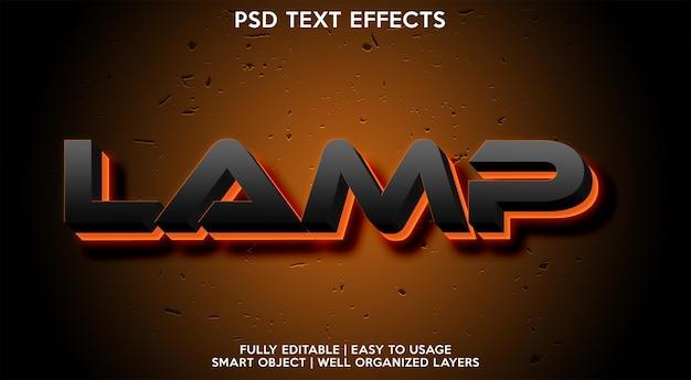 Effet de texte de lampe
