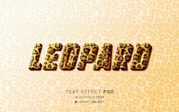 Effet de texte léopard créatif