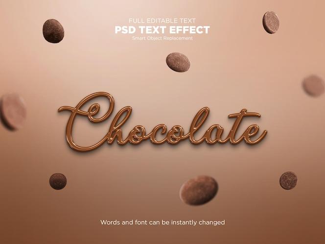 Effet de texte liquide au chocolat