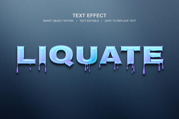 Effet de texte liquide