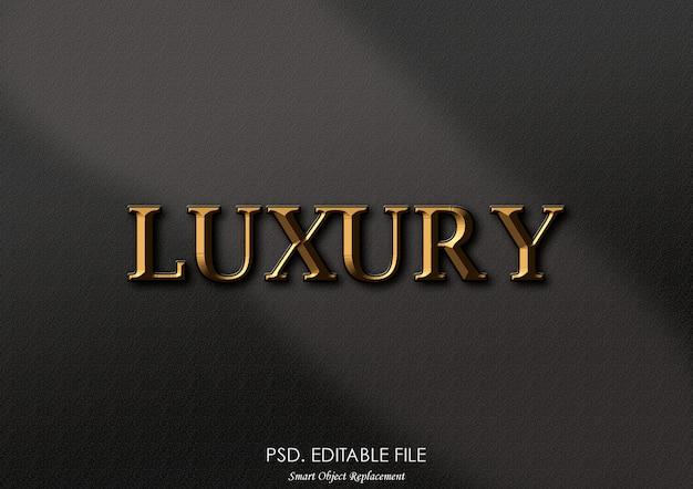 Effet de texte de luxe doré