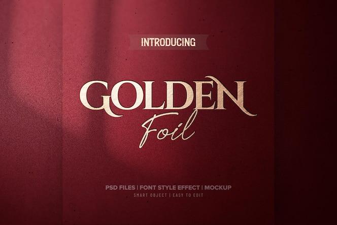 effet de texte de luxe en feuille d'or rouge