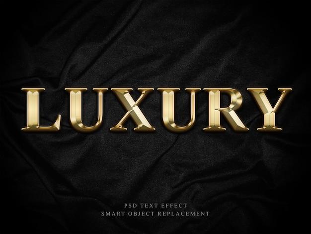 Effet de texte de luxe