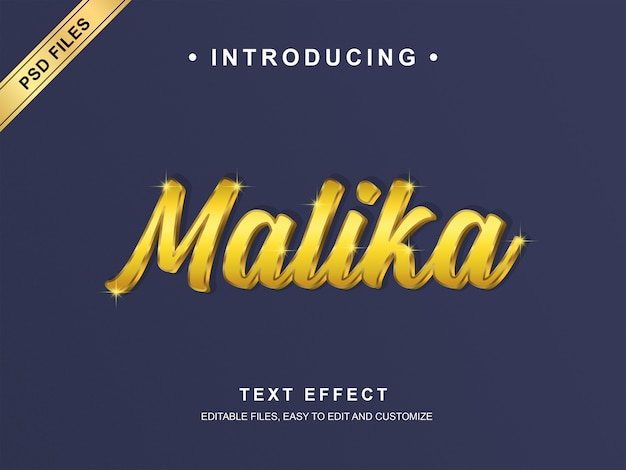 Effet de texte malika