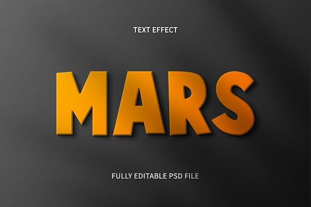 Effet de texte mars