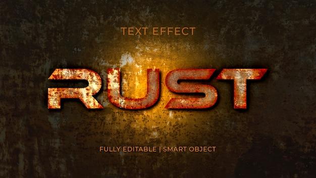 Effet de texte en métal 3d rust