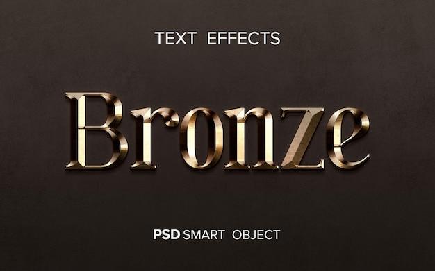 Effet de texte en métal brillant