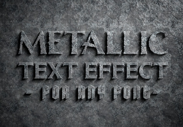 Effet de texte en métal corrodé
