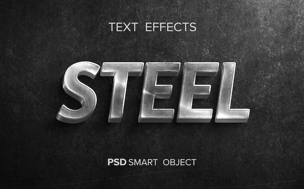 Effet de texte métallique créatif