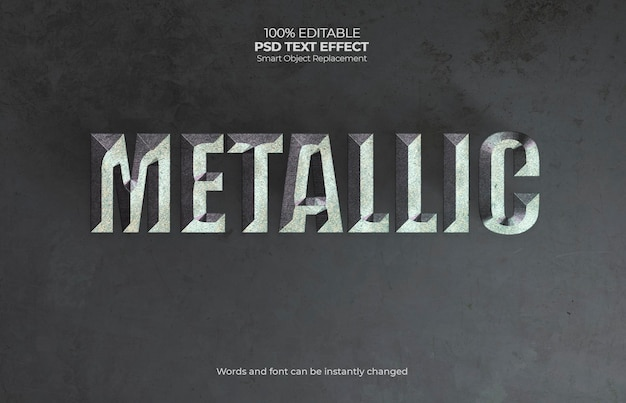 Effet de texte métallique