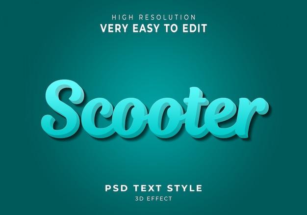 Effet de texte moderne de scooter