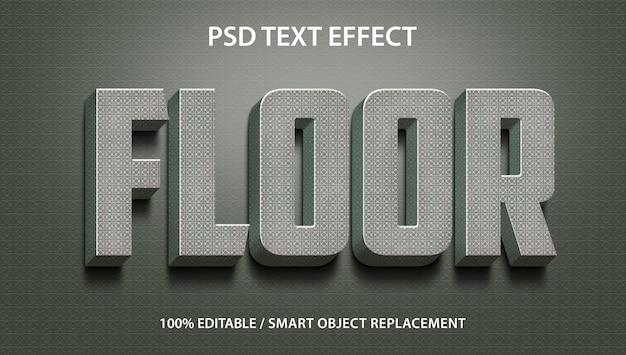 Effet de texte modifiable 3d floor premium