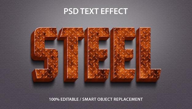 Effet de texte modifiable 3d steel premium