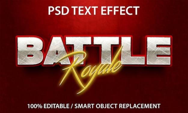 Effet de texte modifiable battle royale premium