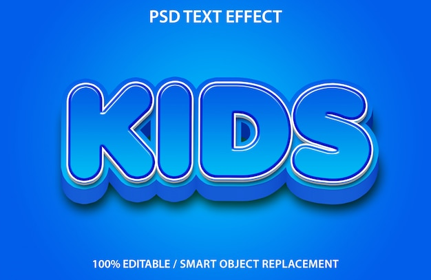 Effet de texte modifiable blue kids