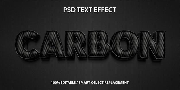Effet de texte modifiable carbon premium