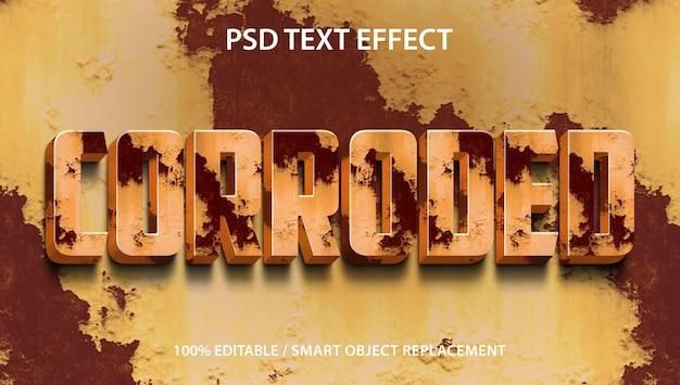 Effet de texte modifiable corrodée premium