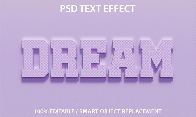 Effet de texte modifiable dream premium