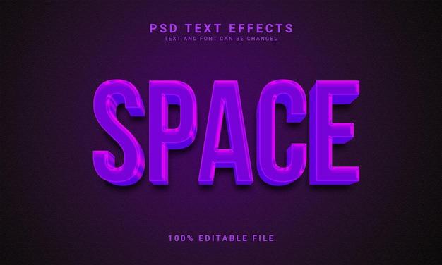 Effet de texte modifiable de l'espace 3d