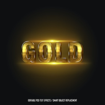 Effet de texte modifiable gold style 2