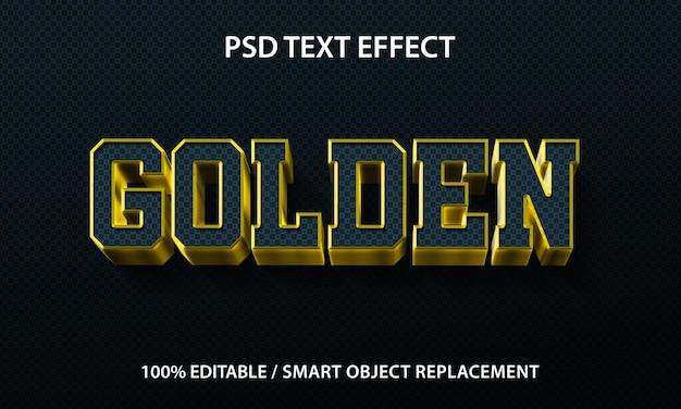Effet de texte modifiable golden premium
