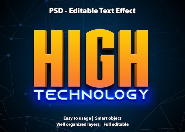 Effet de texte modifiable haute technologie