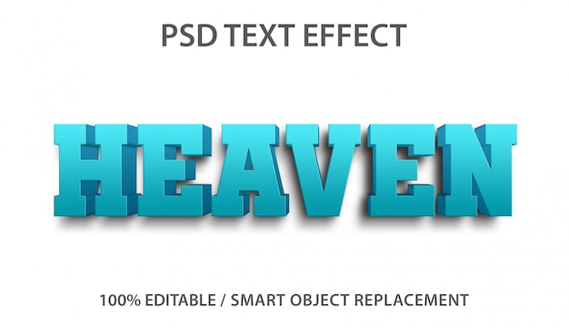 Effet de texte modifiable heaven