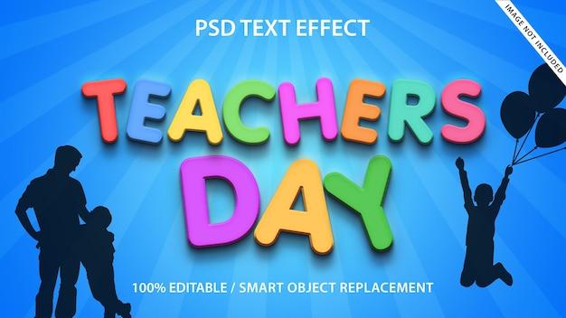 Effet de texte modifiable journée des enseignants premium