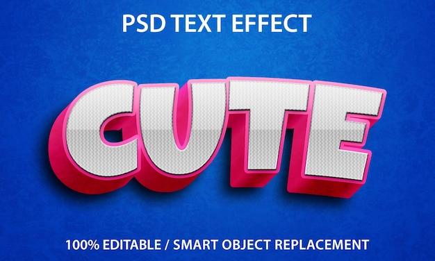 Effet de texte modifiable mignon premium