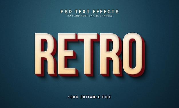 Effet de texte modifiable rétro de style vintage