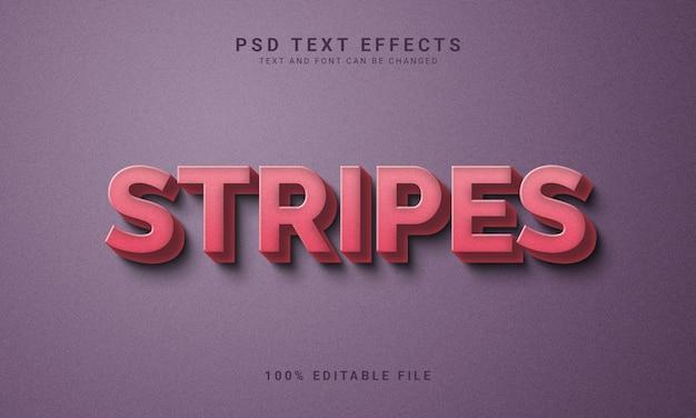 Effet de texte modifiable stripes de style vintage