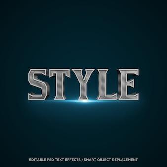 Effet de texte modifiable de style 3d