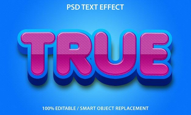 Effet de texte modifiable true premium