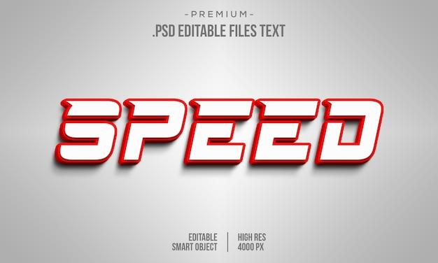 Effet de texte modifiable de vitesse, polices d'alphabet moderne de technologie numérique abstraite, texte de sport de course automobile de vitesse
