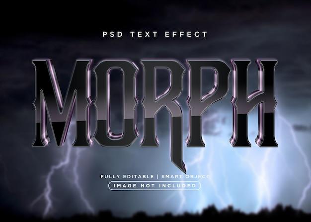 Effet de texte morph de style 3d