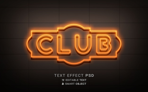 Effet de texte néon créatif