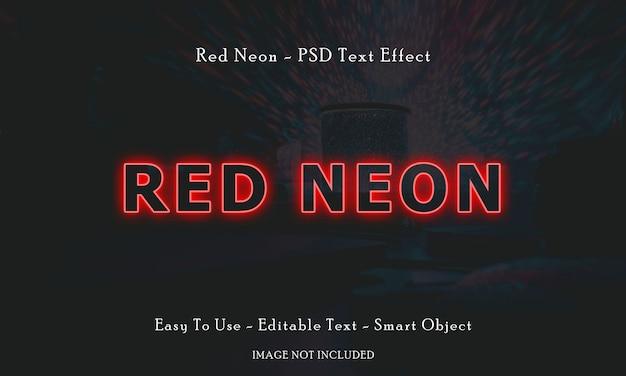 Effet texte néon rouge