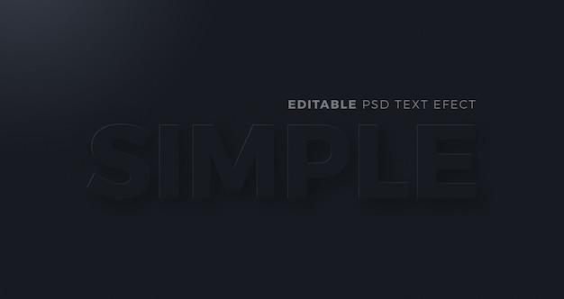 Effet de texte neumorphism foncé simple