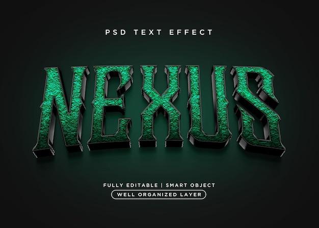 Effet de texte nexus de style 3d