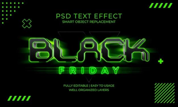 Effet de texte noir vendredi