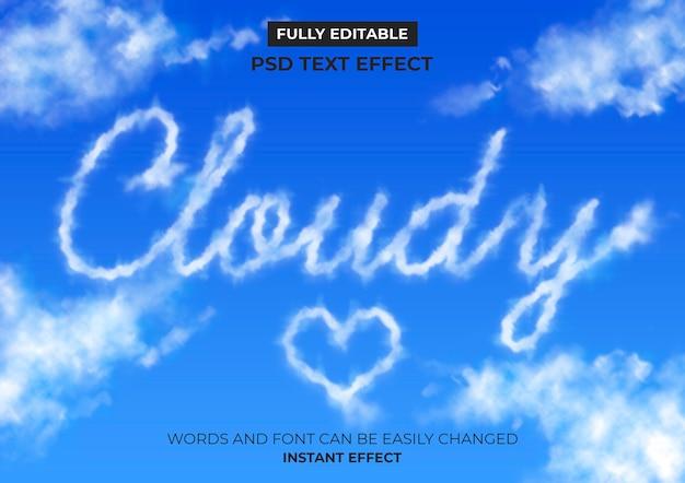 Effet de texte de nuages
